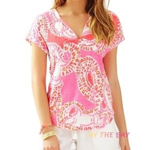 Lilly Pulitzer Duval Top - Trunk in Love Print